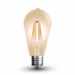 LED Bulbe Ambré Filament ST64 6W