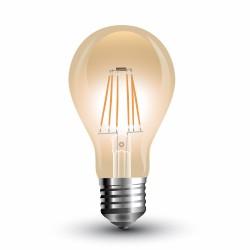 LED Bulbe Ambré Filament A67 8W