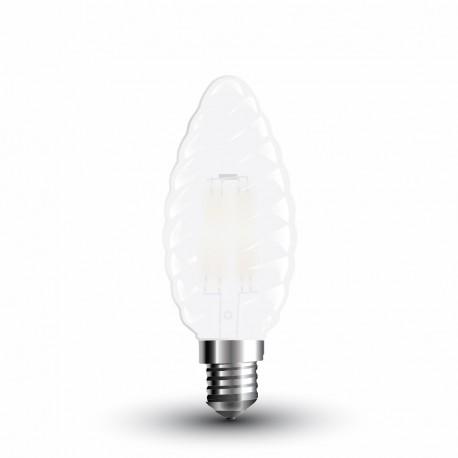 LED Flamme torsé givré Filament 4W