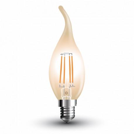 LED Flamme mèche ambrée Filament 4W