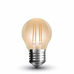 LED Globe ambré filament G45 4W