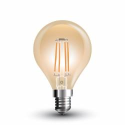 LED Bulbe ambré filament P45 4W