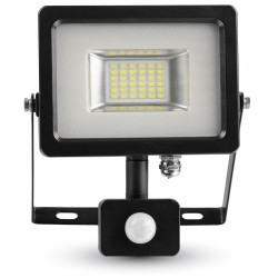 LED Projecteur noir Détecteur 20W