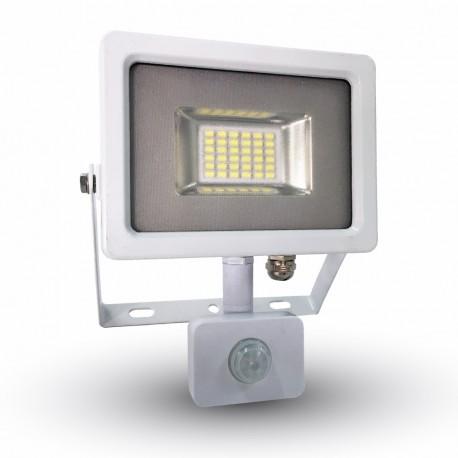 LED Projecteur blanc Détecteur 20W