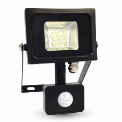 LED Projecteur noir Détecteur 10W