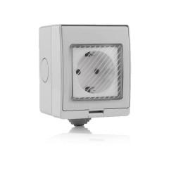 Prise Électrique Wifi IP55, Compatible Amazon Alexa et Google Home