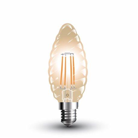 LED Filament Ambré Flamme Torsadé 4W