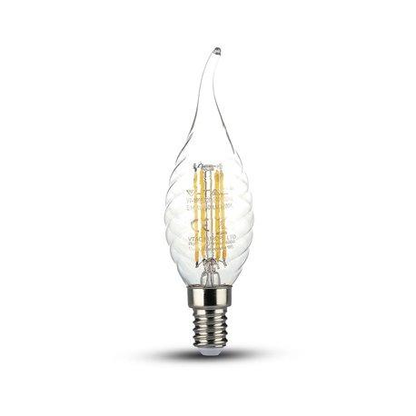 LED Filament Transparent Flamme mèche torsadée 4W