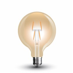 LED Globe ambré Filament G80 4W