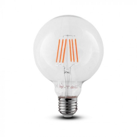 LED Globe Transparent Filament G125 6W