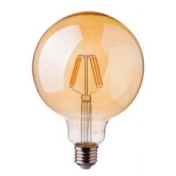 LED Globe ambré Filament G125 8W dimmable