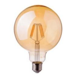 LED Globe ambré Filament G125 8W dimmable