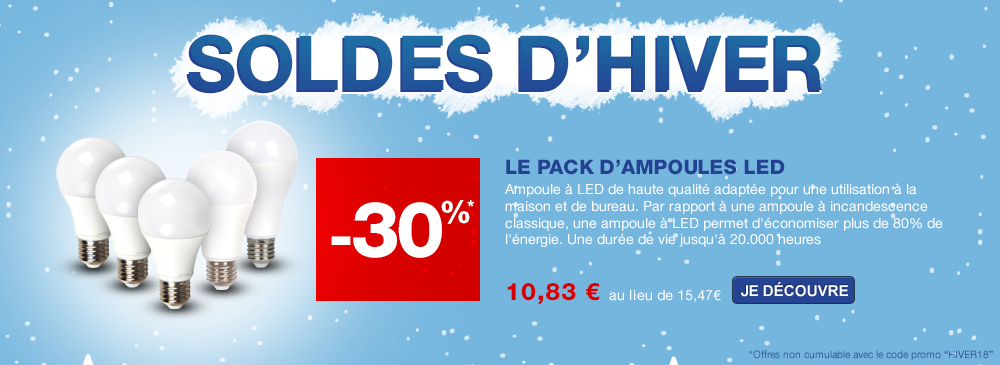 Pack promotion de 5 ampoules LED